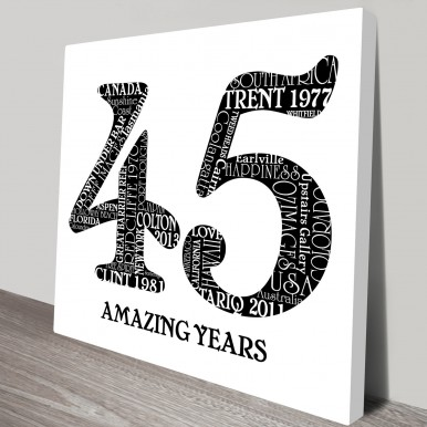 black and white numbers word art | Black & White Numbers