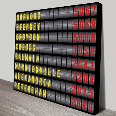 personalised airport destination board art | Airport Destination Sign – style 4