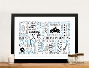Personalised Word Art Gifts Idea Australia