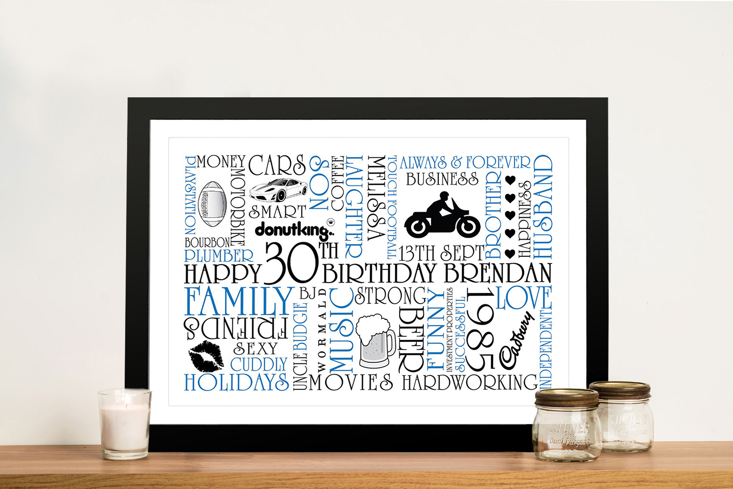 Personalised Word Art Gifts Idea Australia | Typographic Clipart
