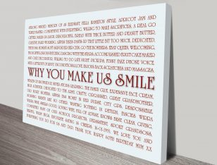 Smiles Custom Word Art