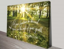 Bible verse art canvas