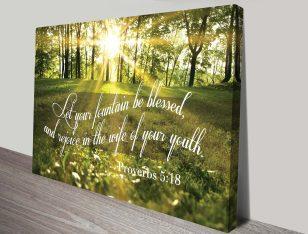 Bible verse art canvas