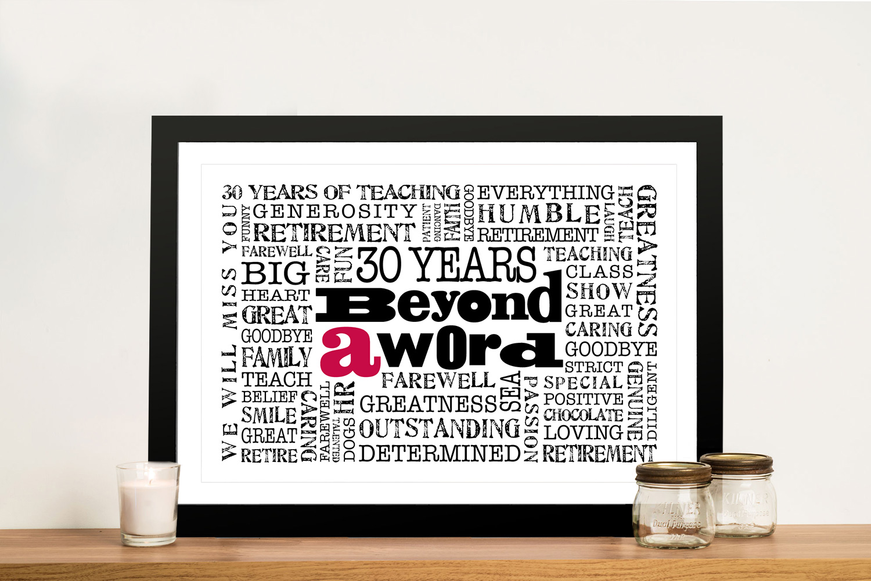 Corporate Logo Personalised Word Cloud Art | Corporate Logo Artwork