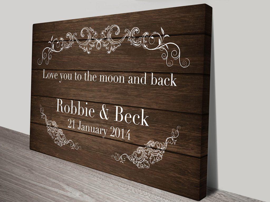 personalized wedding art