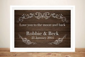 framed personalised wedding art