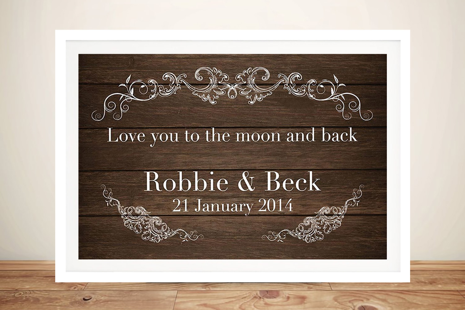 framed personalised wedding art | To the Moon and Back