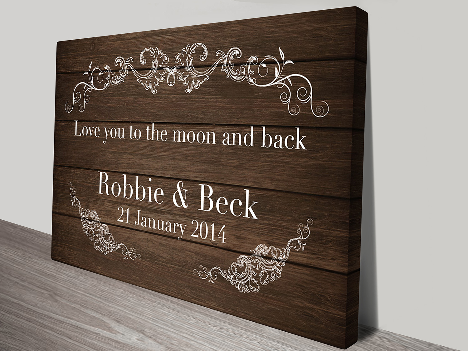 personalized wedding art | To the Moon and Back