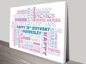 Birthday Word Art Clusters