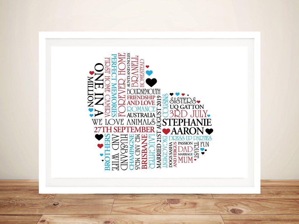 Personalised Heart Framed Wall Art