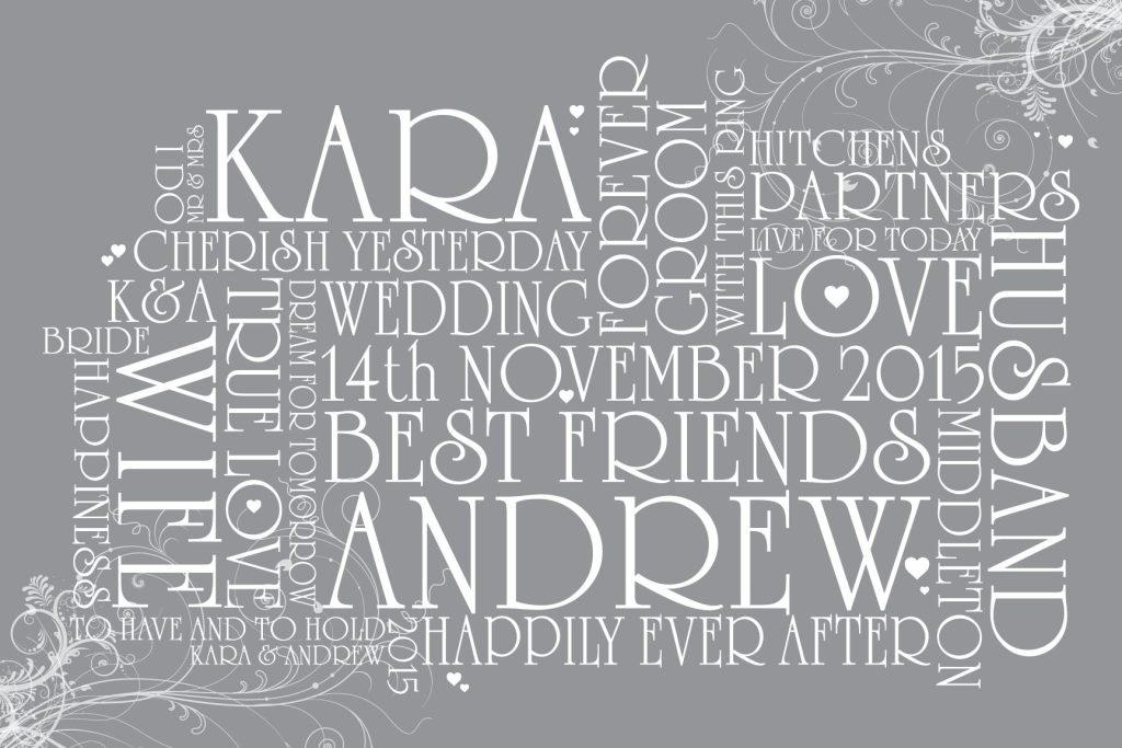 Personalised Artwork Wedding Gift Ideas