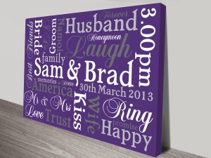 Personalised Word Art Canvas Print