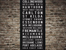AFL Tram Scroll Canvas Print