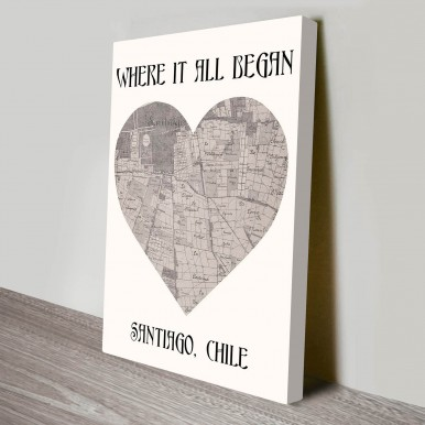 Map to My Heart Personalised Art Print