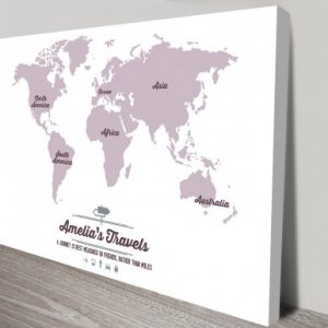 Our Travels Map Personalised Art