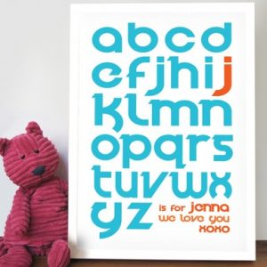 Personalised Alphabet Artwork on Canvas