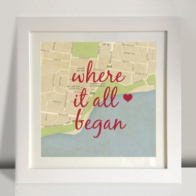 Where It All Began Personalised Artwork