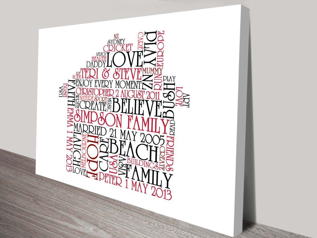 bespoke shapes word art