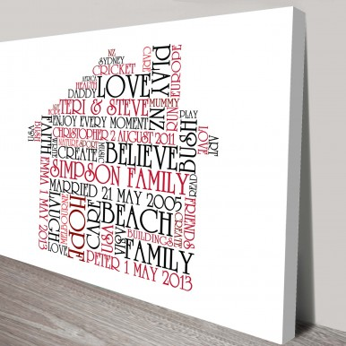 bespoke shapes word art | Word House