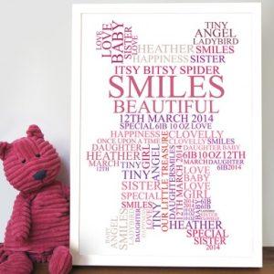 teddy bear personalised artwork