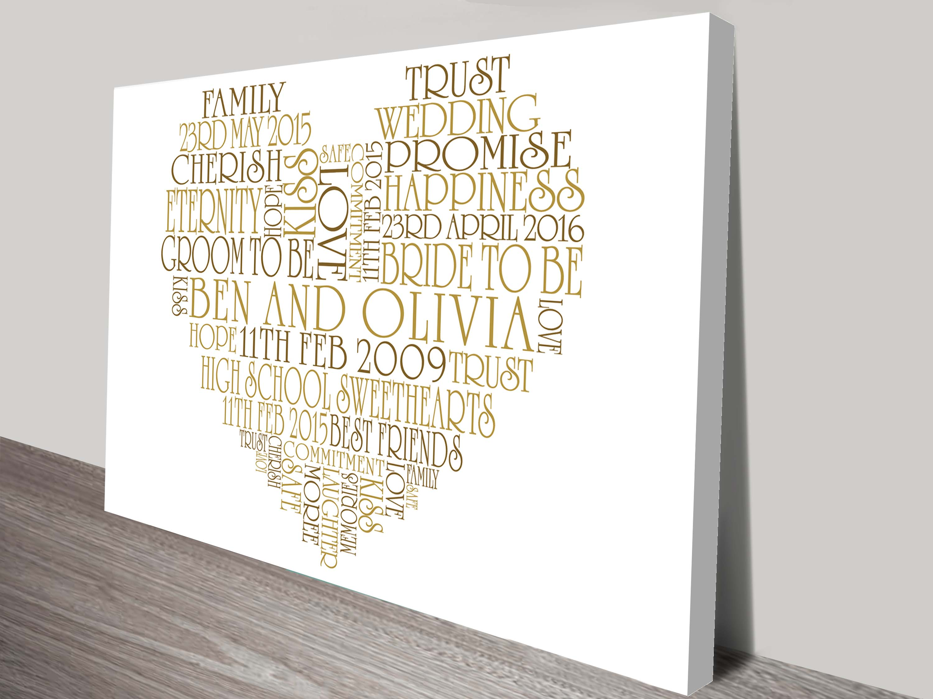 Personalised gifts and bespoke wall art prints on canvas valentines day gift ideas negle Choice Image
