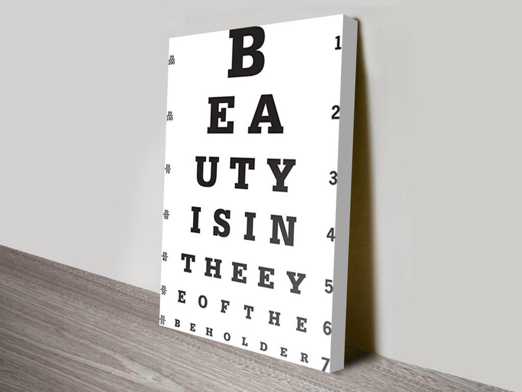 Beauty is in the eye beholder art
