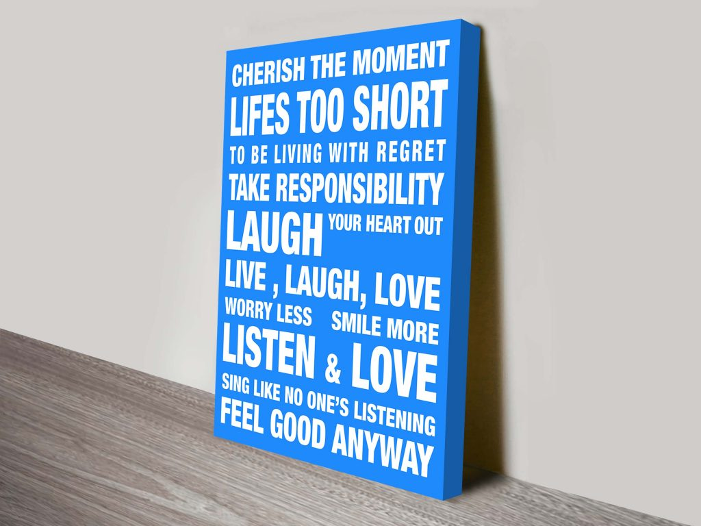 Feel Good word art print