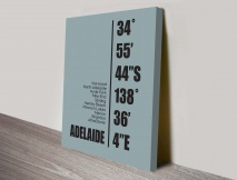 Adelaide Coordinates Canvas Wall Art