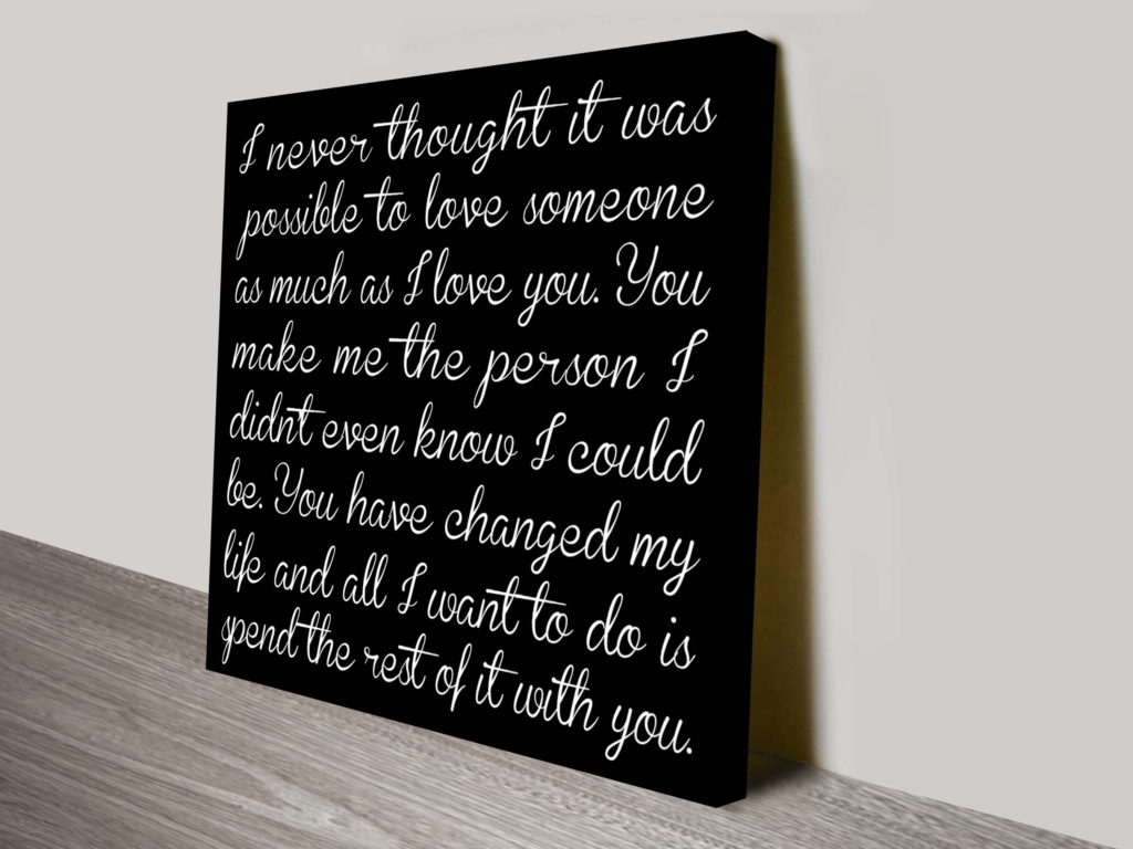 Bespoke Poem and Quotes Canvas Wall Art