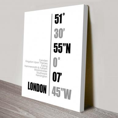 London Coordinates Wall Canvas Online | Coordinates Art Style 6