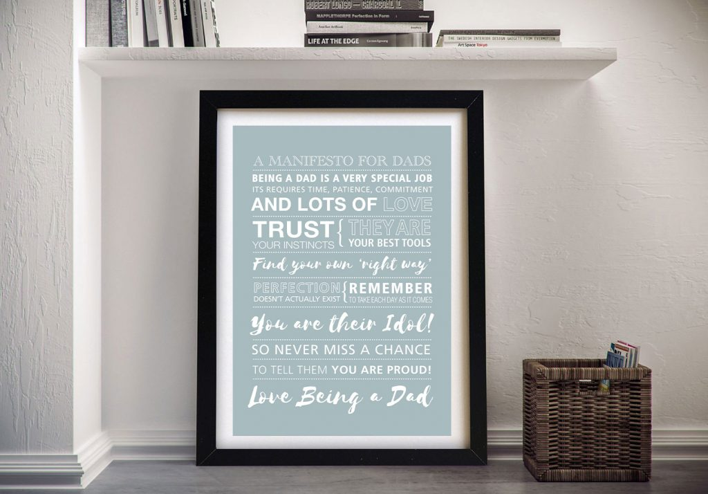 Fathers Day Framed Wall Art