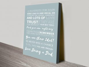Fathers Day canvas print