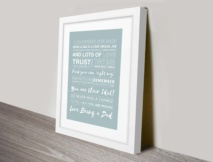 Fathers day framed personalised art