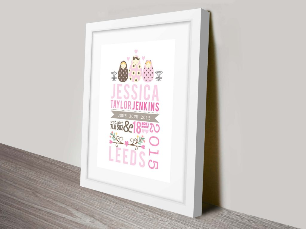 Personalised New Baby Gift Idea
