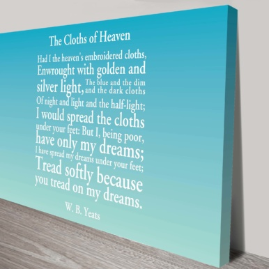 Personalised poem canvas print | Personalised Poems