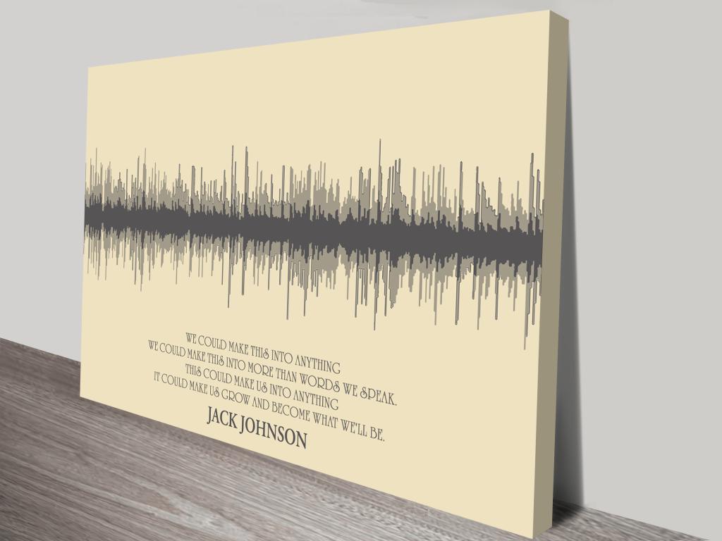 Custom soundwave canvas art