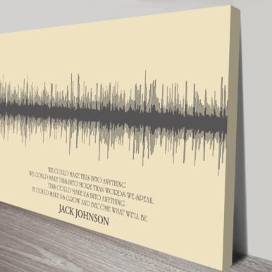 Custom soundwave canvas art | Linear Style