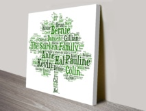 Bespoke Family Tree Canvas Word Art Australia