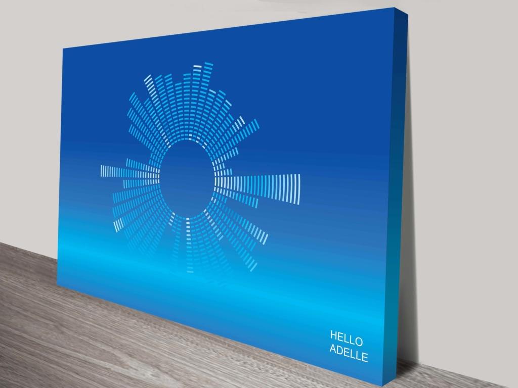 Hello Adelle soundwave art print