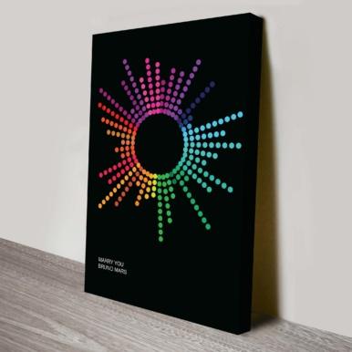 Dotted beats soundwave art canvas | Dotted Beats Soundwave Art