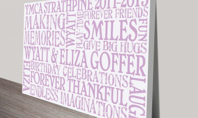 Memories Typographic Word Art Print