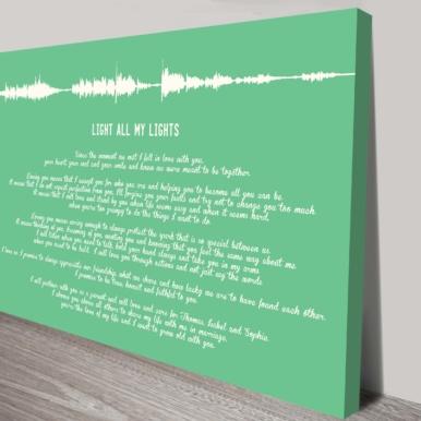 Bespoke Soundwave & Quotes Canvas Word Art | Soundwave & Quotes Art