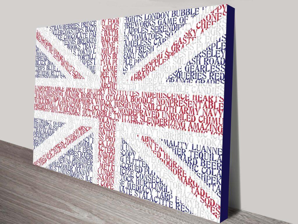 UK Flag Custom word art
