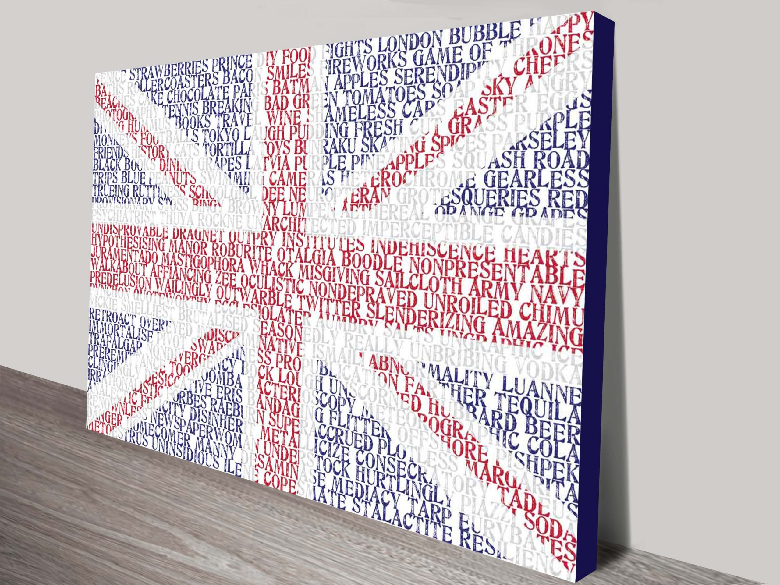 UK Flag Custom word art | Flag Word Art