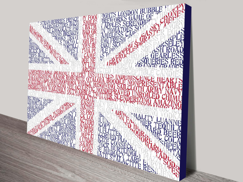 UK Flag Custom word art | Flag Word Art