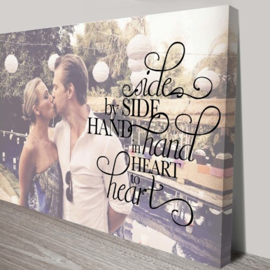 Photo & Quote Typographic Bespoke Canvas Wall Art | Photo & Quote