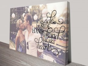 Photo & Quote Typographic Bespoke Canvas Wall Art