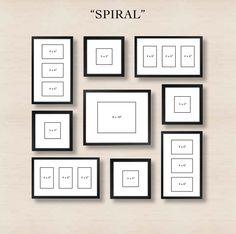 spiral split canvas art layout