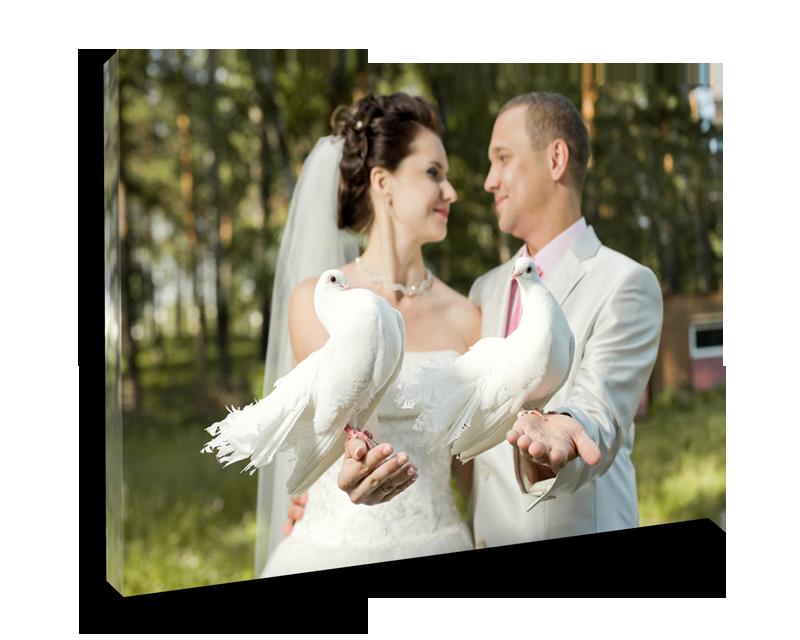 wedding photo canvas print