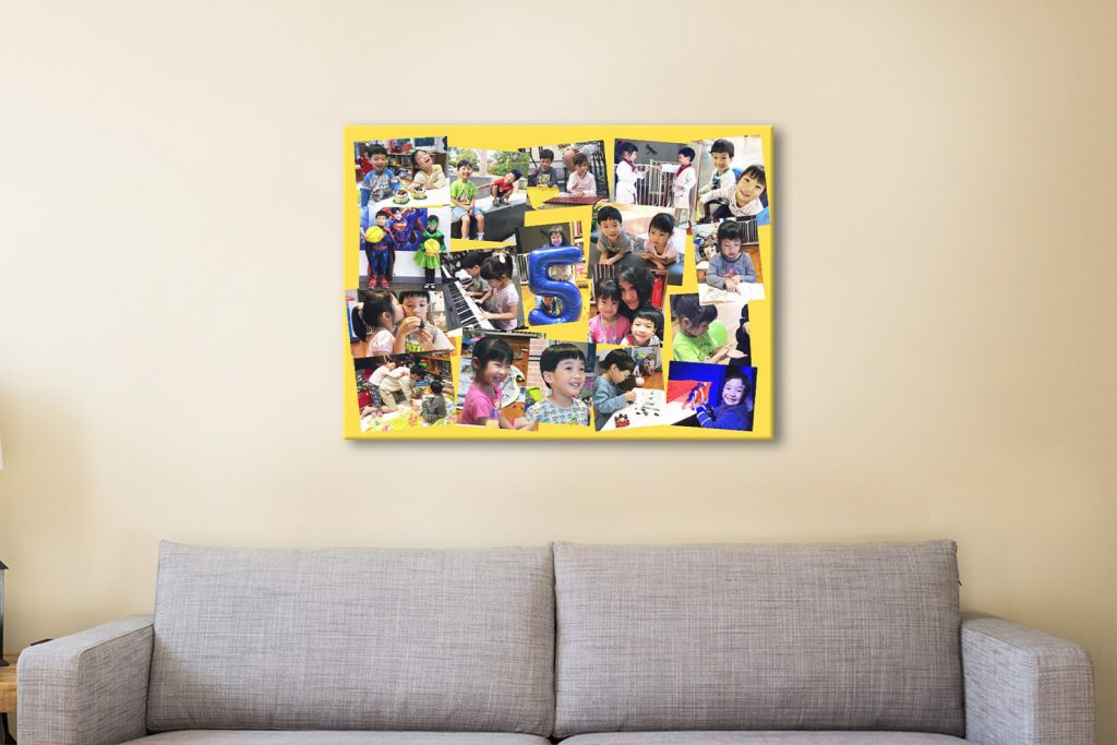 Angled Collage Canvas Print